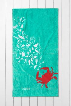 Lands' End Kids' Crab Beach Towel