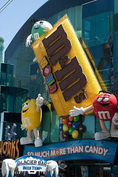 the M & M's World  shop at Las Vegas