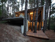 Small Cabin Chic, Architecture, Home Decor, Interior Desing Residential Architecture, Amazing Architecture, Modern Architecture, Building Architecture, Cabin Chic, Casas Containers, Luxury Cabin, Cabin In The Woods, Forest House
