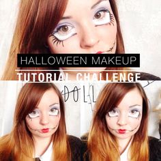 Halloween Make Up Challenge: Doll | There You Are Sibby