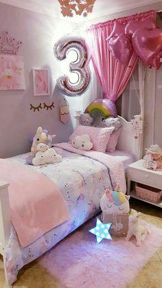 Girls Room Design, Room Design Bedroom, Girl Bedroom Designs, Bedroom Decor, Little Girl Bedrooms, Girls Bedroom, Girl Room, Cute Bedroom Ideas, Toddler Rooms