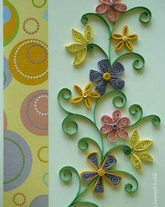 Floral quilled card #quilling JasmeetKohli.Etsy.com #paperquilling #paperart #handcrafted #etsy #handmade #collectart #emergingartist #buyart #buyhandmade #instagood #instaart #paperedge #papercraft #homedecor #etsyshop #gift #lovehandmade #paperartist #paperwork #imadethis #makersgonnamake #diy