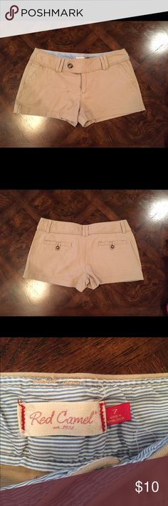 Khaki Shorts Red Camel khaki shorts. Size 7. Never worn! No trades Red Camel Shorts