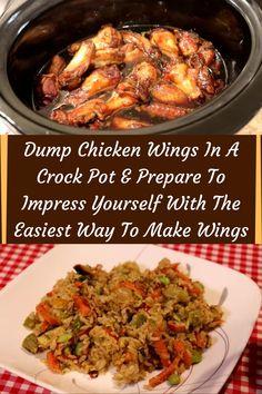 #Dump #Chicken #Wings #Crock #Pot #Prepare #Impress #Yourself #Easiest #Way #Wings Dump Chicken, Chicken Wing Recipes, Chicken Wings, Chicken Snacks, Food Hacks, Crockpot, Beef, American Kitchen, Homemade