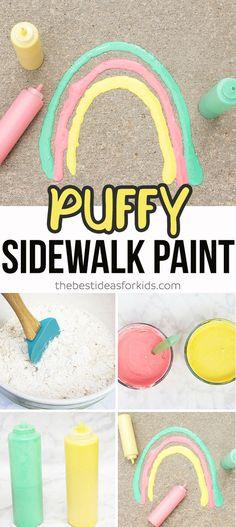 DIY Puffy Sidewalk Paint for Kids