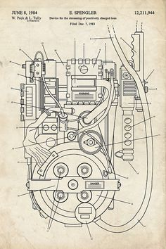 GHOSTBUSTERS Proton Pack Fantasy Art Patent by thepatentoffice