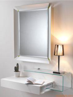Due V | Mobile d'ingresso moderno, abbinato alla lampada Chrome s