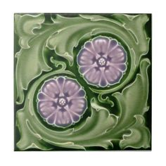 AN109 Art Nouveau Reproduction Antique Tile