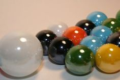 Water marbles look very similar to real marbles.