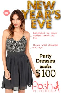 New Years Eve Party Dress Under $100  #fashion #style #dresses #partydresses