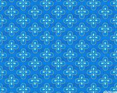 Juice - Quatrefoil Mosaic - Deep Blue