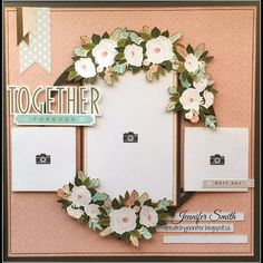 Together Forever Single Page Scrapbook Layout with Close To My Heart Hello Lovely #ctmh #createbyjennifer #ctmhhellolovely #fussycutting #scrapbooklayout