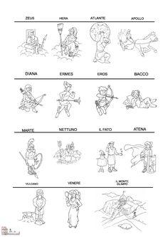 Mark Ryder, Teaching History, Worksheets For Kids, Art Portfolio, Greek Mythology, Ancient Greece, Mythical Creatures, Egypt, Coloring Pages