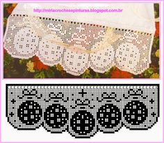 lots of patterns Crochet Home, Crochet Baby, Knit Crochet, Crochet Curtains, Crochet Doilies, Doily Patterns, Crochet Patterns, Crochet Boarders, Filet Crochet Charts