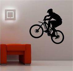 HUGE MOUNTAIN BIKE wall art sticker vinyl KIDS BIKER | eBay