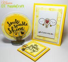 Card con lampadine  #yupplacraft