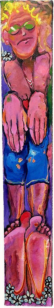 "Acrylic on canvas / Acrylique sur toile - 36"" x 6"" / 91.5 x 15 cm Acrylic Paintings, Art, Red Hearts, Canvas, Art Background, Kunst, Gcse Art, Art Education Resources, Artworks"