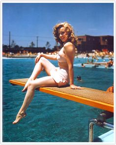 Marilyn Monroe makes this wooden diving board look like perfection.