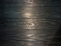 This charred wood finish from Delta Millworks Wood looks almost reptilian!