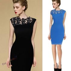 New-Sexy-Women-Lace-Stretch-Clubwear-Cocktail-Evening-Party-Bodycon-Pencil-Dress