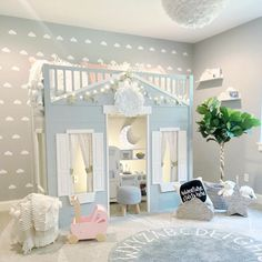 25 Cozy Bedroom Decor Ideas that Add Style & Flair to Your Home - The Trending House Girl Bedroom Designs, Girls Bedroom, Baby Girl Bedroom Ideas, Kids Bedroom Ideas For Girls Toddler, Luxury Kids Bedroom, Teen Bedrooms, White Bedroom, Toddler Girls, Master Bedroom