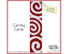 Loom Bracelet Pattern: Candy Cane  INSTANT DOWNLOAD pdf