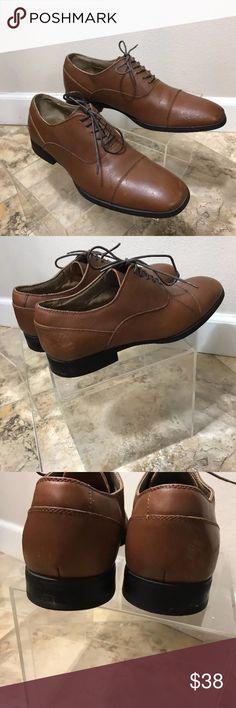 Calvin Klein Carlton Oxford men's shoes size 10.5 Calvin Klein oxfords brown leather worn one day men's Loafers oxfords shoes size 10 1/2 Calvin Klein Shoes Oxfords & Derbys