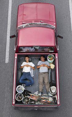 "Alejandro Cartagena's ""Car Poolers."""