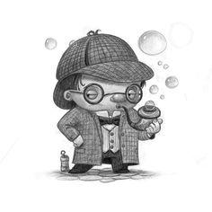 young sherlock holmes blowing bubbles #sketch #sketchbook #drawing #digital #pencil #procreate