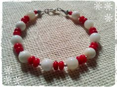 red coral,white,mother-of-pearl,gemstone,beads,bracelet. ''CARMELLA''12.