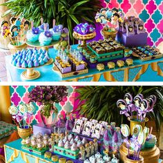 It's a whole new world with this Princess Jasmine birthday party featured here at Kara's Party Ideas. Your little one will love this unique princess party! Jasmin Party, Princess Jasmine Party, Disney Princess Party, Princess Birthday, Aladdin Birthday Party, Aladdin Party, Birthday Party Themes, 5th Birthday, Birthday Ideas