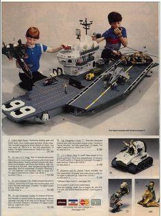 80's Christmas Wishbooks showing GI Joe toys