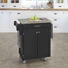 Home Styles Kitchen Cart, Black / Stainless Steel Top | HOUSES ...