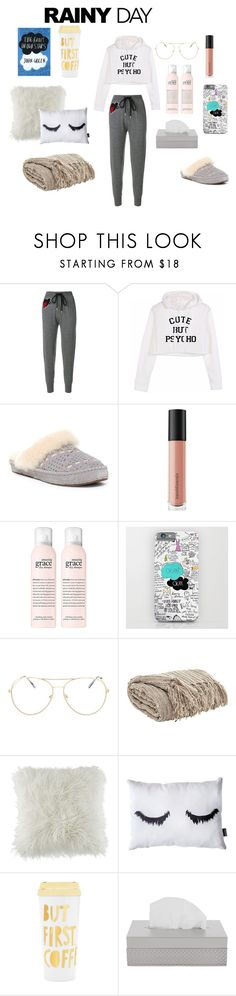"""""""rainy days"""" by shan-zie on Polyvore featuring Markus Lupfer, UGG, Bare Escentuals, Topshop, BCBGeneration, ban.do and Villari"""
