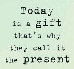 And it's a great gift...