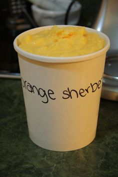 Alton Brown's Orange Sherbet.  And 1/4 t. salt to this recipe and it will be the exact recipe from Food Network!