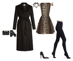 """""""Theater and Dining"""" by stylev ❤ liked on Polyvore featuring Lanvin, Wolford, Hillier Bartley, Elie Saab and Christian Louboutin"""