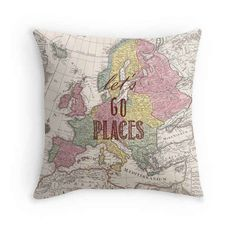 Or inspire all your house guests to travel the world with this decorative throw pillow.