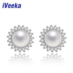 real natural freshwater pearl earrings genuine 925 sterling silver stud earrings fashion gift retro pearl jewelry //Price: $57.95 & FREE Shipping // #shopping #glam #bags #style #fashion
