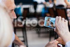 Mature Couple Taking Selfie royalty-free stock photo