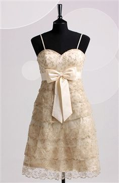 Spaghetti Straps Lace Tiered #Dress  Style Code: 06451 $84