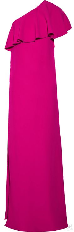 LANVIN Ruffled one-shoulder crepe gown Beautiful Clothes, Beautiful Outfits, Cornelia Webb, Get Glam, Designer Clothing, Lanvin, Magenta, Nice Dresses, Summer Outfits