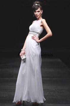 Perlenbesetzt ärmellos Destination Chiffon A Line Abendkleid Wedding Dress 2013, White Wedding Dresses, Cheap Wedding Dress, One Shoulder Wedding Dress, Wedding Gowns, Formal Dresses, Bustier, Trends, Ankle Length