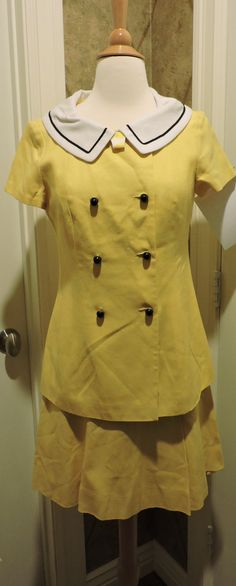 Vintage MARA by ROMAY Skirt Suit Yellow White Blue by LavittLane