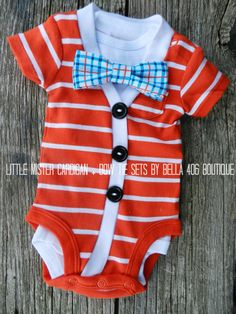 Little Boy's Cardigan Set  Short Sleeve. Such cute Thing 1  thing 2 outfits! Perfect for summer!