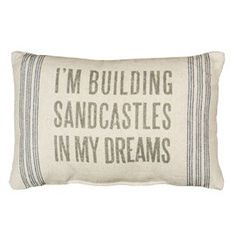building sandcastles (so many pillows to look at)... at Tuvalu Home Furnishings in Laguna Beach Coastal Beach Decor Coastal Beach House Furniture Coastal Cottage Decor Nautical Accessories Vintage Coastal Beach Decor Furnishings Seashell Accessories