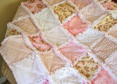 upcycle shabby chic for babies | Sugar on Top Upcycled Linens Baby Shabby Chic Rag ... | Everything Fl ...