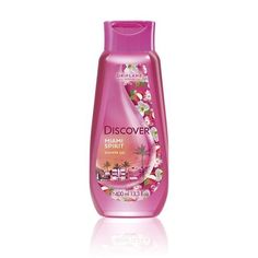 Discover Miami Shower Gel 400 ml cherry flowers & lychee fruit Oriflame Discover Lychee Fruit, Miami, Jelsa, Natural Cosmetics, Shower Gel, Cleaning Supplies, Bath And Body, Packing, Spirit