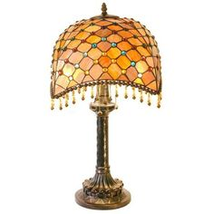 Melon Burst Tiffany Style Table Lamp -