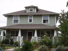 Craftsman Foursquare Exterior   Cape Cod Homes with Dormers